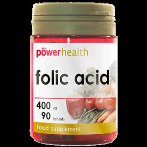 Folic Acid 400mcg complemento alimentario vitaminas y minerales