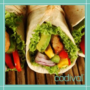 receta saludable wrap de pollo y verduras