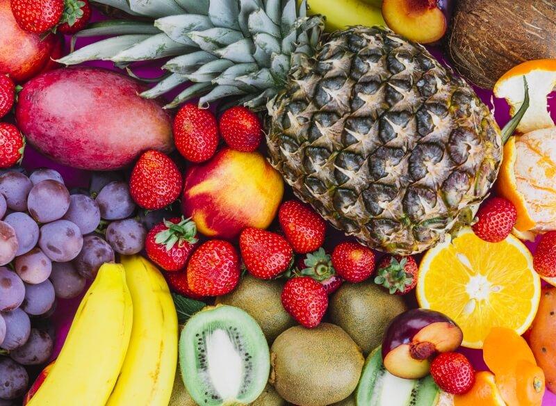frutas con fibra