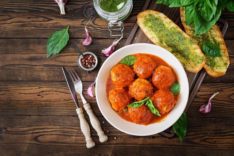 albondigas con salsa vegetariana