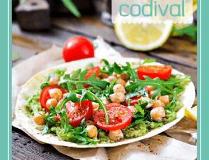 receta de ensalada de frutos rojos garbanzos