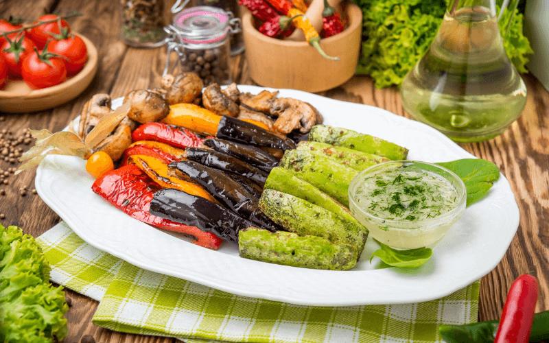 receta sana ensalada de verduras asadas