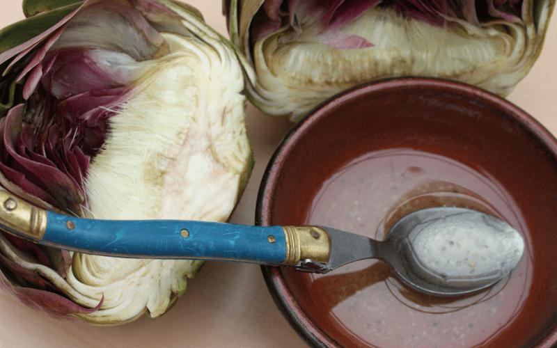 receta vinagreta de alcachofas y tallarines