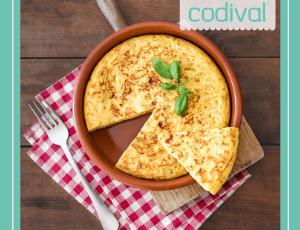 receta de tortilla de patatas vegana