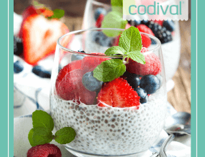 receta pudin de chia con frutas